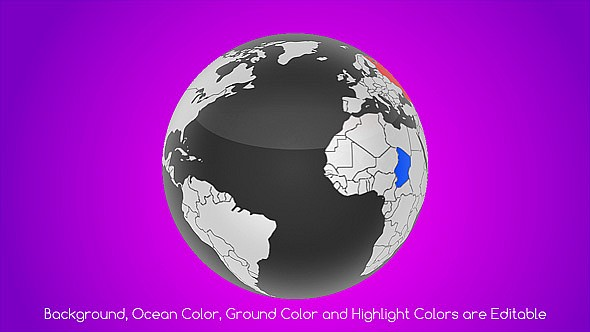 Real World Map Country Highlighter - 4