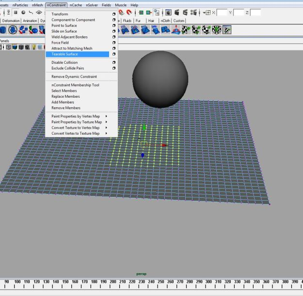 ncloth how to make object fall stiffer